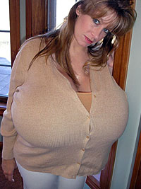 Chelsea Charms World's Largest Breasts In Tight Top. Great Side Boob.